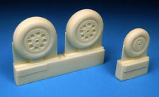 Barracuda 1/48 Gloster Meteor Mk.8 Main and Nose Wheel Set # 48304