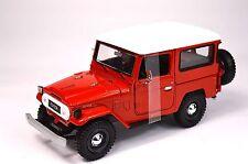 TOYOTA FJ40 LAND CRUISER 1974 RED MOTORMAX 79323 1:24 NEW DIECAST MODEL