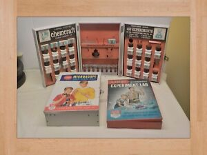 Lionel-Porter Chemcraft Chemistry Lab Gilbert Microscope & Experiment labs 3 Set