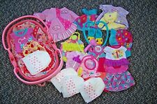 MIXED LOT of HASBRO BABY ALIVE CLOTHES~SPOON~CUP~DIAPERS~DOLL CARRIER~MORE~EUC