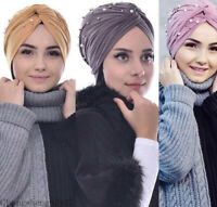 New Muslim Turban Head Wrap Women India Ruffle Hat Beanie Scarf Cap Turban Hijab