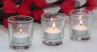 12 votive clear glass votive tealight candle holder party wedding dinner event