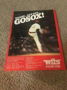 "Vintage 1979 BOSTON RED SOX WITS RADIO Promo Print Ad 1970s ""GO SOX!"""