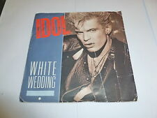 "BILLY IDOL - White Wedding - 1985 UK blue injection moulded 7"" vinyl single"