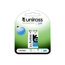 9V Uniross R22 170 Series Rechargeable Battery