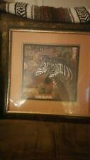 "Homco Home Interior"" Zebra"" Picture By Sambataro, 18"" X 18"" (Good Condition)"