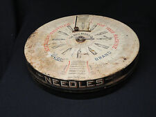 BOYE Sewing Needles & Shuttles Store Counter Display Tin circa 1910 Real Neat
