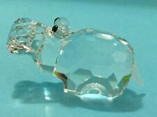 Swarovski Crystal Hippo with Frosted Tail! African Wildlife Animal Paradise!