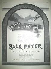PUBLICITE DE PRESSE GALA PETER PREMIER DE TOUS LES CHOCOLATS AU LAIT AD 1926
