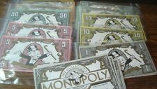 #117 Assorted Notes 1991 Franklin Mint Monopoly Replacement Game MONOPOLY MONEY