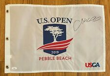 Gary Woodland Signed 2019 US Open Golf Pin Flag Autographed JSA Sticker ONLY