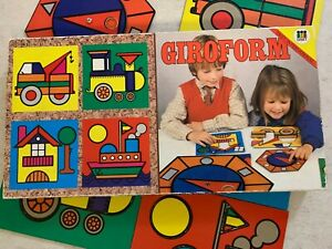 Vintage GIROFORM Puzzle Game Diset Made in Spain Children's Learning Game