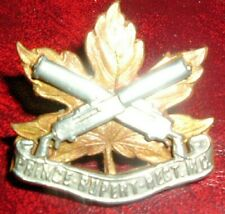 CAP BADGES-CANADIAN VERY RARE PRINCE RUPERT M.G REGIMENT MAZEUS M167 MAKER MARK