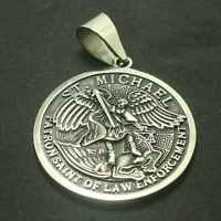 St Saint Michael Archangel Angel Medal Pendant Stainless Steel 316L Jewelry New