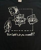 Modest Mouse Blue Cadet Shirt Small Med LG XL Black