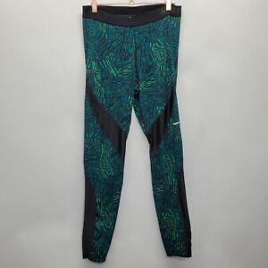 Nike Pro sz L Hypercool Tidal Womens Training Tights Green Black 725479-455