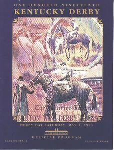 1993 - 119th Kentucky Derby program in MINT Condition - SEA HERO