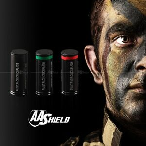 AA Shield Camo Face Paint  FORCES ARMY Hunting Military Woodland 3 Color