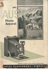 Original-Photo-Apparate-Katalog A. Stukenbrok , Einbeck