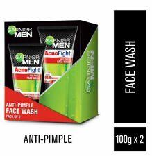 2 X Garnier Men Acno Fight Salicylic 6 in 1 Anti Pimple Acne Oily Facewash 100g