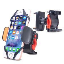Universal 360 Degree Bike Motorcycle Handlebar Cell Phone Mount Orange Red Black