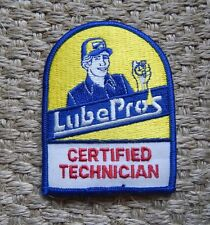 Lube Pros Certified Technician Embroidered Iron On Uniform Patch Jacket Decal