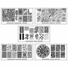 Bundle Monster 5pc Blogger Collaboration Nail Art Polish Stamping Plates - Set 2