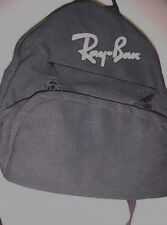 "Vintage Ray Ban Sunglasses Promotional Black Padded Backpack 14"" x 13"""