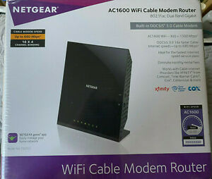 NEW NETGEAR C6250-100NAS AC1600 Wifi Cable Modem Router DOCSIS 3.0 Dual Band