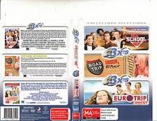 Old School Uncut-2003-Luke Wilson/Road Trip/Euro Trip Uncut-[3 Disc]-3 Movie-DVD