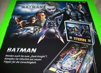Batman Dark Knight Pinball POSTER Large Size 33.25  X 23.75 Stern German Promo