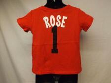 New-Minor Flaw Chicago Bulls Derrick Rose Adidas Toddler 2T Red Shirt