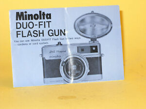 Original(!) Minolta Instruction Manual for DUO-FIT Flash Gun - in English!