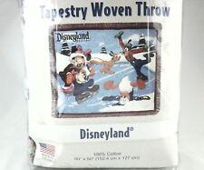 DISNEY Blanket ICE-SKATING Vintage Throw Mickey Minnie Donald Goofy Pluto USA