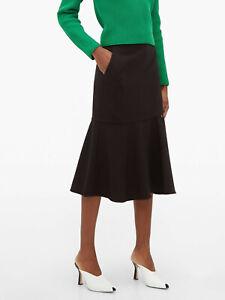 Tibi Anson cut-out stretch jersey midi skirt BRAND NEW US6 UK10 RRP£365