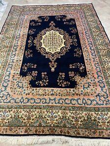 Tappeto Persiano Kerman Extra Fine vecchio annodato a mano misura 285x200