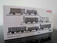 Märklin H0 46085 7-teiliges bayerisches Güterwagenset (DR), neu / OVP