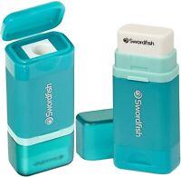 Pack of 1 Swordfish Line Out Mini Ruler Eraser Ref 40371