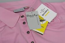 Daily UV 40+ Protect Ladies Golf Short Sleeved Breathable Polo Shirt Pink 14/16