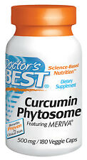 Curcumin Phytosome featuring Meriva (500 mg) - Doctor's Best - 180 Veggie Caps