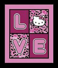 Sanrio Hello Kitty Cheetah Love Quilt Panel by Springs Creative btp