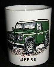 NUEVA VERDE Defender 90 4x4 LAND ROVER COCHE porcelana taza Vendedor GB