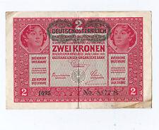 2 Kronen öst.-ung. Bank 1917 mit Aufdruck Deutschösterreich