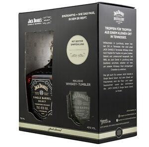 NEU Geschenkset! Jack Daniels Single Barrel +  Single Barrel Tumbler 0,7l - 45%