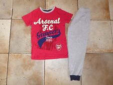 NEXT Boys ARSENAL Pyjamas Set 7 Years AFC Gunners Nightwear (WORN ONCE)
