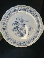 beautiful Nikko BLUE MING TREE Floral Dinner Plate 11in Chop plate Excellent