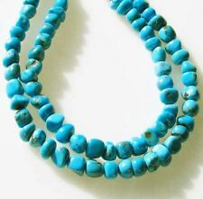 """Natural Untreated American 5x6.5mm Turquoise Nuggety Bead 8"""" Strand 9433HS"""