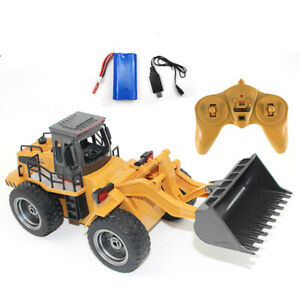 RC Pushdozer Toy 1/18 Scale Front Loader Construction Vehicle Remote Kids Gift