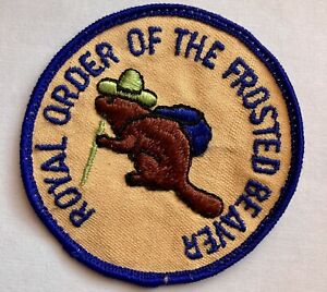 Beaver Girl Scout Patch 1970's GSA Round Royal Order Of The Frosted Beaver