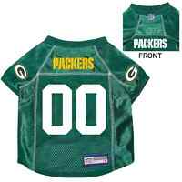 NEW GREEN BAY PACKERS PET DOG PREMIUM NFL JERSEY w/NAME TAG ALL SIZES